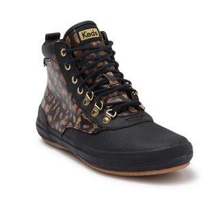 Keds Scout Boot II Leopard Print Canvas Rain Boot